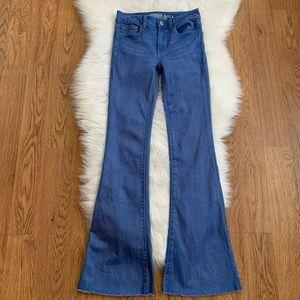 American Eagle Blue High Rise Slim Flare Jeans 2